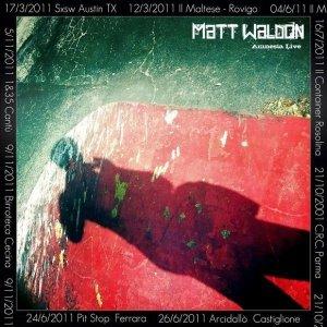 album AMNESIA LIVE - MATT WALDON