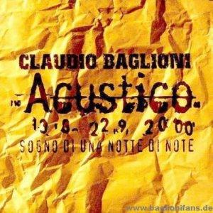 album Acustico - Claudio Baglioni