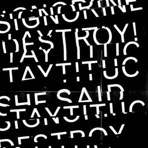 album Split She Said Destroy!/Signorine Taytituc - Split
