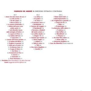 album In Direzione Ostinata e Contraria - Fabrizio De André