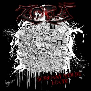 Zora SCREAM YOUR HATE ( full length ) copertina