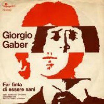 Copertina dell'album Far finta di essere sani, di Giorgio Gaber