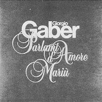 Copertina dell'album Parlami d'amore Mariù, di Giorgio Gaber