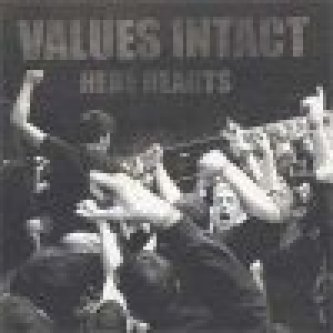 Copertina dell'album Here Hearts, di Values Intact