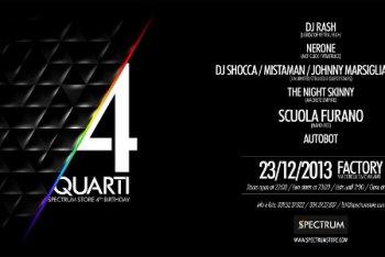 4 Quarti è il party di Spectrum