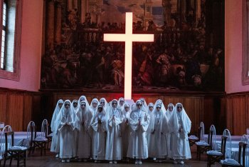 Uno stilla da The New Pope, l'ultima serie tv di Paolo Sorrentino, © Sky