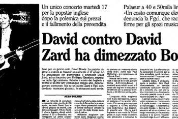 gli articoli della stampa italiana su bowie