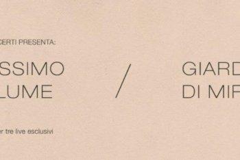 Massimo Volume / Giardini di Mirò - minitour estivo (dettaglio locandina)