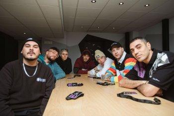 La crew di TRX Radio al completo. Foto di Andrea Bianchera