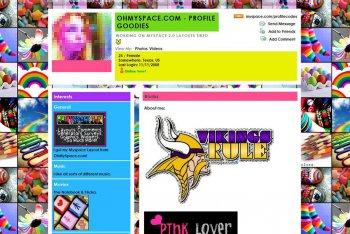 Un vecchio layout di MySpace