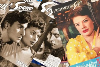 """Le copertine di """"Sogno"""", rivista di fotoromanzi in cui ha debuttato Sofia Loren"""