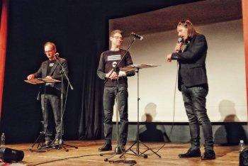 I fondatori della 19'40''. Da sinistra a destra: Sebastiano De Gennaro, Francesco Fusaro, Enrico Gabrielli