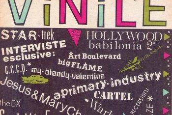 """Dettaglio della copertina del numero zero di """"Vinile"""", il trimestrale musicale di Stampa Alternativa"""