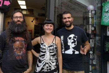 Maso, Emi e Albe di Flamingo Records