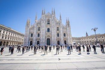 La manifestazione de La musica che gira il 21 giugno 2020 a Milano - foto di Francesco Prandoni