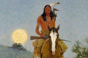 """Un particolare della copertina di """"Fabrizio De Andrè"""", dal dipinto di Frederic Remington"""