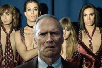 Clint Eastwood in rappresentanza degli hater dei Måneskin