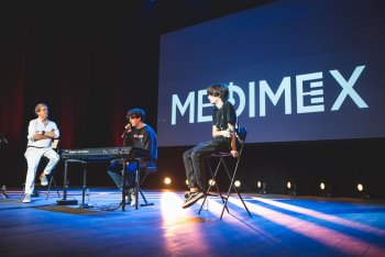 Da sinistra Assante, Drast e Kaneki - foto Ufficio Stampa Medimex