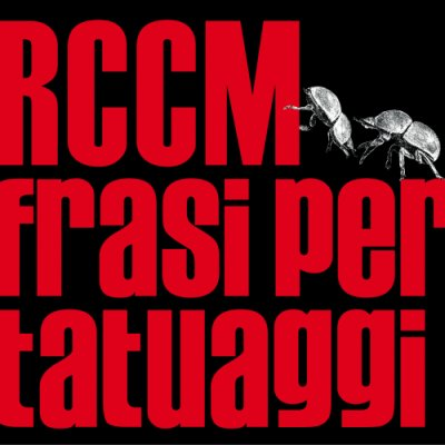 album Frasi per tatuaggi - RCCM
